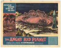 3w216 ANGRY RED PLANET LC #6 '60 great artwork image of rocket & giant monster on Mars' surface!