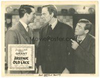 3w218 ARSENIC & OLD LACE signed LC R58 by Raymond Massey, who's between Cary Grant & Peter Lorre!
