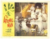 3w220 ATOMIC MAN LC '56 overhead image of doctors operating on The Human Bomb!