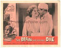 3w232 BRAIN THAT WOULDN'T DIE LC #1 '62 c/u of happy Virginia Leith before she is decapitated!