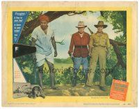 3w233 BWANA DEVIL LC #2 '53 Robert Stack, Nigel Bruce & another with guns, directed by Arch Oboler!