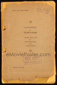 3w001 MUMMY script February 19, 1932 working titles Cagliostro & King of the Dead, horror classic!