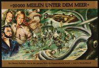 3w025 20,000 LEAGUES UNDER THE SEA German promo brochure '56 Jules Verne classic, cool art, rare!