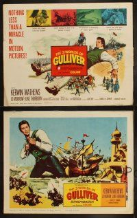 3w100 3 WORLDS OF GULLIVER 8 LCs '60 Ray Harryhausen fantasy classic, cool special effects scenes!