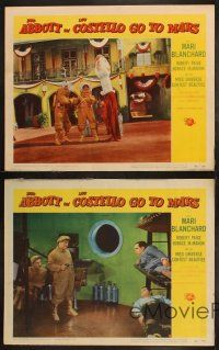 3w150 ABBOTT & COSTELLO GO TO MARS 4 LCs '53 wacky images of astronauts Bud & Lou in action!