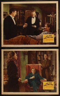 3w160 AND THEN THERE WERE NONE 3 LCs '45 Walter Huston, Agatha Christie, Rene Clair!