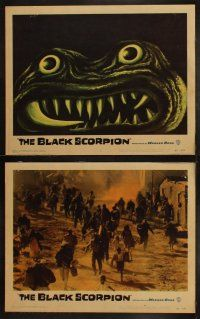 3w103 BLACK SCORPION 8 LCs '57 Richard Denning & Mara Corday hunt a wacky monster in Mexico!