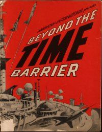 3w339 BEYOND THE TIME BARRIER pressbook '59 Adam & Eve of the year 2024 repopulating the world!