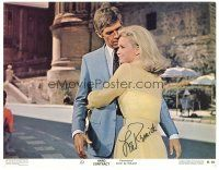 3y014 HARD CONTRACT signed 11x14 still '69 by Lee Remick, who's close up hugging James Coburn!
