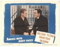 3y067 ANGELS WITH DIRTY FACES LC #7 R48 c/u of Pat O'Brien talking to James Cagney on Death Row!