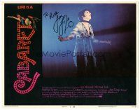 3y006 CABARET signed LC #4 '72 by Liza Minnelli, who's performing on stage!
