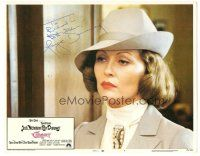 3y007 CHINATOWN signed LC #7 '74 by Faye Dunaway, who's close up wearing suit & hat!