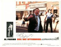 3y008 DOG DAY AFTERNOON signed LC #3 '75 by Charles Durning, who's yelling in the street by police!