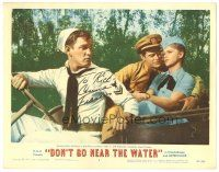 3y009 DON'T GO NEAR THE WATER signed LC #2 '57 by Anne Francis, who's with Holliman & Richards!