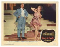 3y074 DOWN TO EARTH LC #3 '46 great full-length image of Larry Parks & sexy Adele Jergens!
