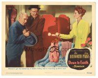 3y075 DOWN TO EARTH LC #4 '46 Rita Hayworth gives phone to bookie James Gleason & James Burke!