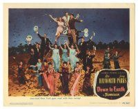 3y072 DOWN TO EARTH LC #5 '46 Rita Hayworth, jazz mad New York goes mad w/their swing!