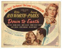 3y069 DOWN TO EARTH TC '46 sexy Rita Hayworth & Larry Parks singing, dancing & loving!