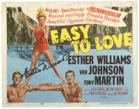 3y002 EASY TO LOVE signed TC '53 by Esther Williams, art of her w/ Van Johnson & Tony Martin!