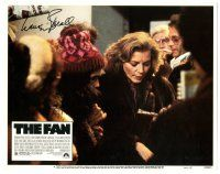 3y011 FAN signed LC #4 '81 by Lauren Bacall, who's in fur mobbed by her fans!