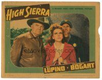 3y054 HIGH SIERRA LC '41 close up of Ida Lupino with cop looking up at climax of the movie!