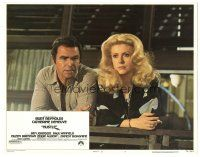 3y015 HUSTLE signed LC #7 '75 by Catherine Deneuve, who's smoking hot with Burt Reynolds!