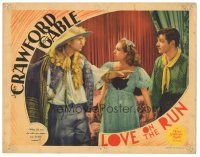 3y057 LOVE ON THE RUN LC '36 Joan Crawford between Clark Gable & Franchot Tone!