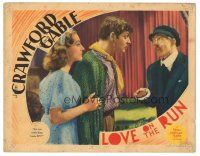 3y059 LOVE ON THE RUN LC '36 Clark Gable & Joan Crawford stare at Christian Rub!