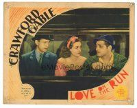 3y060 LOVE ON THE RUN LC '36 Joan Crawford in truck between Clark Gable & Franchot Tone!