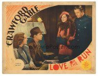 3y061 LOVE ON THE RUN LC '36 Reginald Owen & Mona Barrie tell Crawford & Tone they both lose!