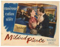 3y079 MILDRED PIERCE LC '45 Zachary Scott embraces Joan Crawford & tries to kiss her, Curtiz!