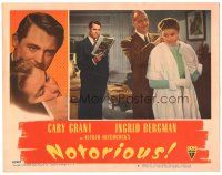 3y030 NOTORIOUS LC #8 '46 Cary Grant watches Louis Calhern put jewelry on Ingrid Bergman!