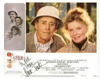 3y018 ON GOLDEN POND signed LC #3 '81 by Jane Fonda, on a portrait of her dad Henry & Kate Hepburn!