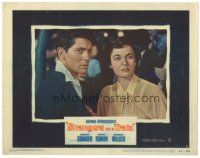 3y047 STRANGERS ON A TRAIN LC #2 '51 Farley Granger & Ruth Roman intensely stare straight ahead!