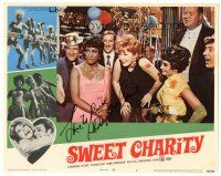3y022 SWEET CHARITY signed LC #4 '69 by Shirley MacLaine, who's laughing at a party!