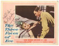 3y023 THREE FACES OF EVE signed LC #7 '57 by Joanne Woodward, who's on bed with David Wayne!