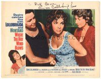 3y025 WHERE THE HOT WIND BLOWS signed LC #8 '60 by Gina Lollobrigida, who's angry being held back!