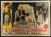 4j193 PLEASURE GARDEN linen Italian 2p '25 historic poster from Alfred Hitchcock's very first film!