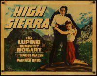 4k308 HIGH SIERRA style B 1/2sh '41 different image of Mad Dog Humphrey Bogart & Lupino, very rare!