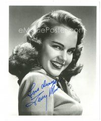 4t777 TERRY MOORE signed 8x10 REPRO still '90s wonderful smiling close up half portrait of the star
