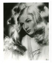 4t785 VERONICA LAKE signed 8x10 REPRO still '70s head & shoulders c/u of the beautiful blonde star!