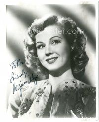 4t787 VIRGINIA MAYO signed 8x10 REPRO still '90s wonderful smiling close up portrait of the star!