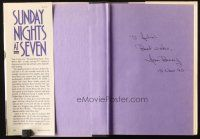 4t147 SUNDAY NIGHTS AT SEVEN signed hardcover book '90 by Joan Benny, biography her dad Jack Benny!