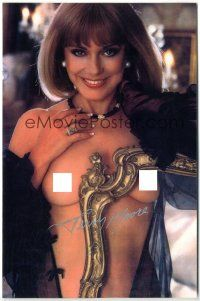 4t778 TERRY MOORE signed color 7x10.75 REPRO still '00s she posed nude in Playboy in 1984 at age 55