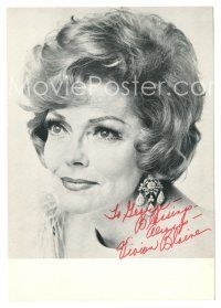 4t239 VIVIAN BLAINE signed 5x7 fan photo '80s the Guys & Dolls actress later in her career!