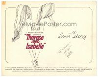 4t199 THERESE & ISABELLE signed TC '68 by Radley Metzger, art of lesbians Essy Persson & Anna Gael!