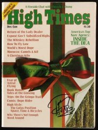 4t016 TOMMY CHONG signed magazine Dec/Jan 1975 contains a Fireside Chat with Cheech & Chong!