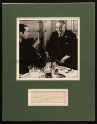 4t033 SYDNEY GREENSTREET signed signed album page in matted display '80s w/Bogart in Maltese Falcon!
