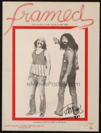 4t015 TOMMY CHONG signed sheet music '76 from Framed, one of their very best songs!