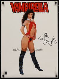 4t193 VAMPIRELLA signed special 17x23 '93 by Cathy Christian, the sexiest half-naked superhero!
